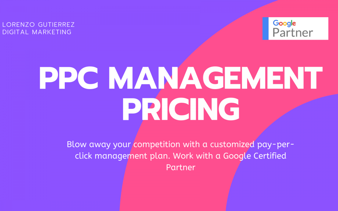PPC Management Pricing for 2019