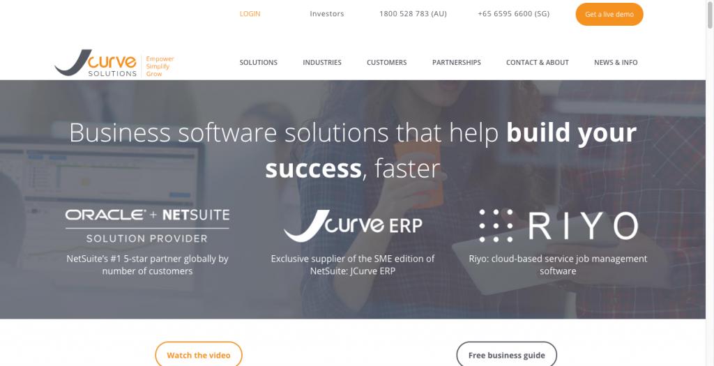 jcurve solutions b2b website design